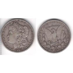 (110) Estados Unidos de América. 1901(O). 1 Dollar (MBC) (Plata)