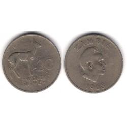 (13) Zambia. 1968. 20 Ngwee (BC)