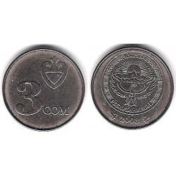 (15) Kirguizistán. 2008. 3 Som (SC)