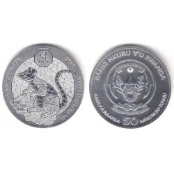 Ruanda. 2020. 50 Amarafanga (SC) (Plata)
