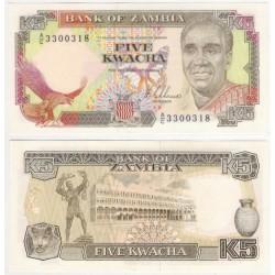 (30a) Zambia. 1989. 5 Kwacha (SC)