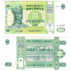 (13i) Moldavia. 2010. 20 Lei (SC)