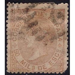 (96) 1867. 50 Mils. de Esc. Isabel II (Usado)