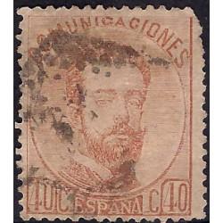 (125) 1872. 40 Céntimos. Amadeo I (Usado)