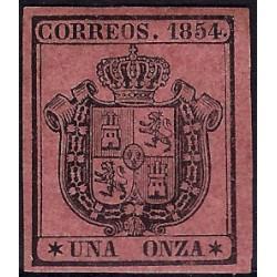 (29) 1854. 1 Onza. Escudo de España (Nuevo, con marca de fijasellos)
