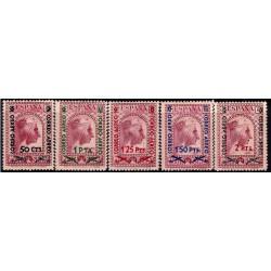 (782 a 786) 1938. Serie Completa. Correo Aereo Montserrat (Nuevo, con marca de fijasellos)