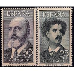(1164 a 1165) 1955-56. Serie Completa. Fortuny y Torres Quevedo (Nuevo, con marca de fijasellos)