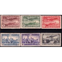 (614 a 619) 1931. Serie Completa. III Congreso UPP (Nuevo, con marca de fijasellos)