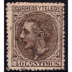 (205) 1879. 40 Céntimos. Alfonso XII (Usado)