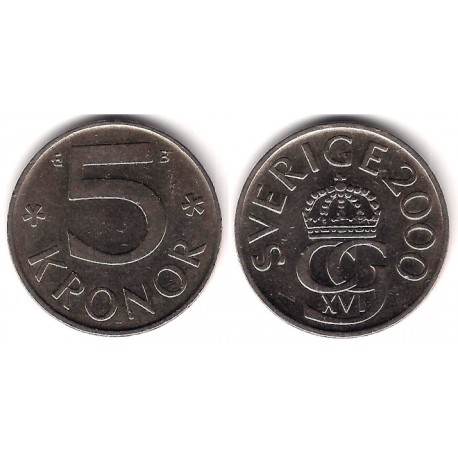 (853a) Suecia. 2000. 5 Kronor (MBC)