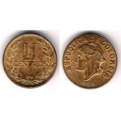 (214) Colombia. 1959. 2 Centavos (MBC)