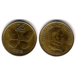 (241.1) Filipinas. 1990. 25 Sentimos (EBC)