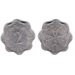 (5) Malta. 1972. 2 Mils (MBC)