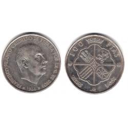 Estado Español. 1966*(19-70). 100 Pesetas (MBC+) (Plata)