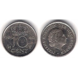 (182) Países Bajos. 1980. 10 Cents (MBC)