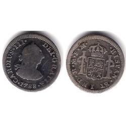 Carlos III. 1788. ½ Real (BC) (Plata) Ceca de Mejico FM