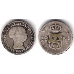 Isabel II. 1852. 2 Reales (RC) (Plata) Ceca de Madrid