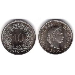 (27) Suiza. 2002. 10 Rappen (EBC)