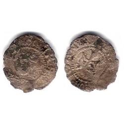 Juana y Carlos I. Sin Fecha. Dinero (RC) Ceca de Zaragoza S