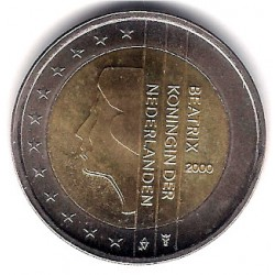 Países Bajos. 2000. 2 Euro (SC)