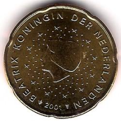 Países Bajos. 2001. 20 Céntimos (SC)