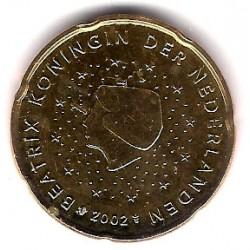 Países Bajos. 2002. 20 Céntimos (SC)