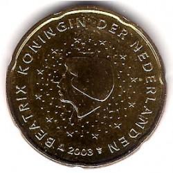 Países Bajos. 2003. 20 Céntimos (SC)