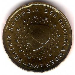 Países Bajos. 2008. 20 Céntimos (SC)