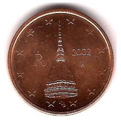 Italia. 2002. 2 Céntimos (SC)