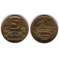 (57) Finlandia. 1992. 5 Markkaa (SC)