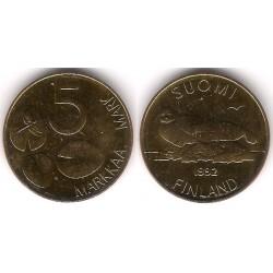 (73) Finlandia. 1992. 5 Markkaa (SC)