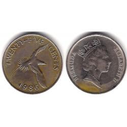 (18) Bermudas. 1986. 25 Cents (MBC)