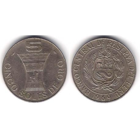 (252) Perú. 1969. 5 Soles de Oro (MBC)