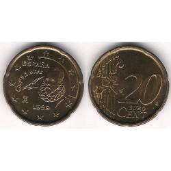España. 1999. 20 Céntimos (SC) Exceso de metal en patilla