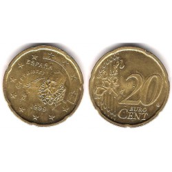 España. 1999. 20 Céntimos (SC) Exceso de metal en nariz