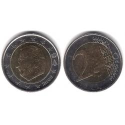 Bélgica. 2000. 2 Euro (MBC) Mapa Difuminado con EURO