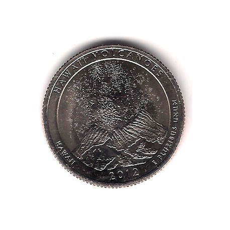 Estados Unidos de América. 2012(S). Quarter Dollar (SC) Hawaii Volcanoes