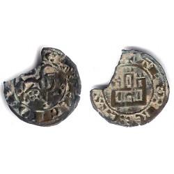Alfonso X. 1252-1284. Maravedi Prieto (BC) Sin Marca de Ceca