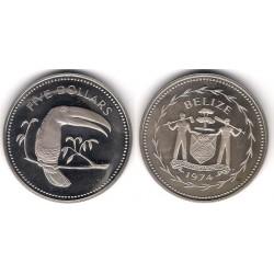 (44) Belice. 1974. 5 Dollars (SC)