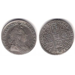 (539.3) Gran Bretaña. 1723. 1 Shilling (BC+) (Plata)