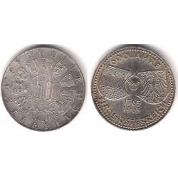 (2894) Austria. 1963. 50 Schilling (EBC) (Plata)