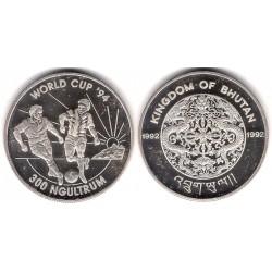 (72) Bhutan. 1992. 300 Ngultrum (EBC+) (Plata)