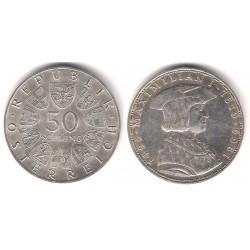 (2906) Austria. 1969. 50 Schilling (SC) (Plata)