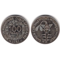 (4) Estados África Oeste. 1982. 100 Francs (MBC+)