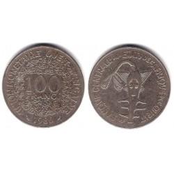(4) Estados África Oeste. 1980. 100 Francs (BC)