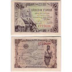 Estado Español. 1945. 1 Peseta (MBC+) Sin Serie