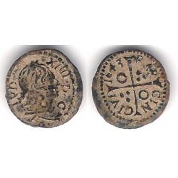 Luis XIV (Principado Catalán). 1643. Dinero (MBC) Ceca de Barcelona