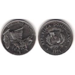 (71.1) República Dominicana. 1991. 25 Centavos (MBC)