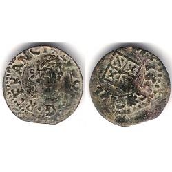 Luis XIV (Principado Catalán). 1645. Dinero (BC+) Ceca de Vic