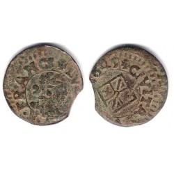 Luis XIV (Principado Catalán). 1649. Dinero (BC+) Ceca de Vic